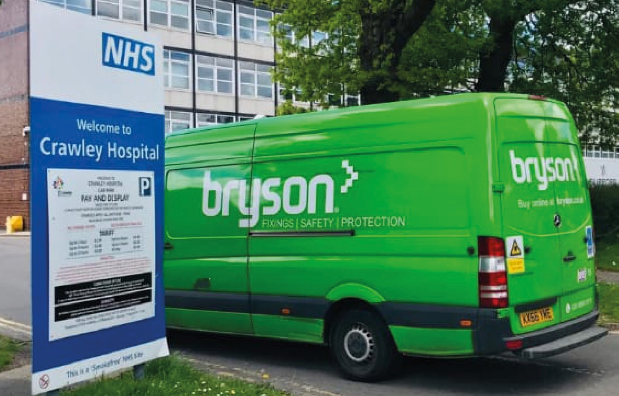 Bryson Supporting the NHS by delivering PPE